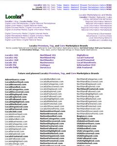 Localzz Media may sell certain domains or group of domains - list at LocalzzMedia.com