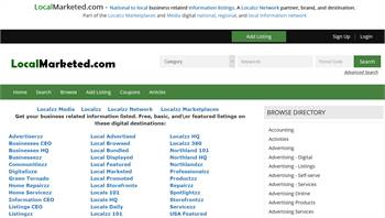LocalMarketed.com - National to local business related information listings.
