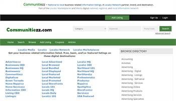 Communitiezz.com - National to local business related information listings.