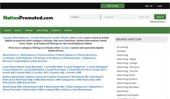 NationPromoted.com - National to local business related information listings.