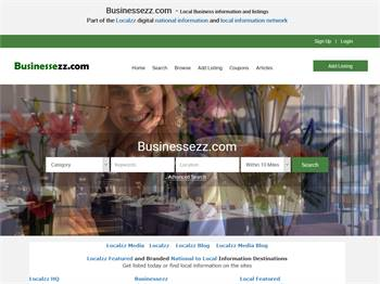 Businessezz.com  - National to local business and information listings.