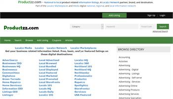 Productzz.com - National to local product related information listings.