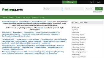 Postingzz.com - National to local business related information listings.