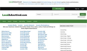 LocalAdvertised.com - A national to local business related information listings marketplace.