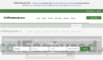 USAFeatured.com - National to Local business and information listings