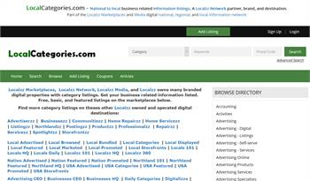 LocalCategories.com - National to local business related information listings.