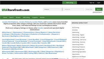 USAStorefronts.com - National to local business related information listings.
